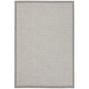 Hofmeister Looped/Hooked Grey Indoor/Outdoor Rug By Brambly Cottage