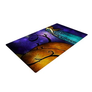Mandie Manzano Cinderella Orange/Purple Area Rug