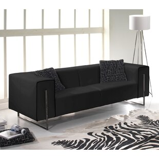 Louissaint Genuine Leather Sofa By Wade Logan