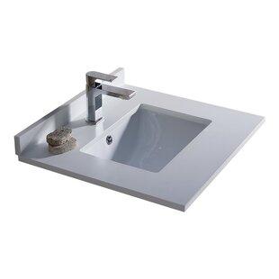 Fresca Oxford Ceramic Rectangular Drop-In Bathroom Sink with Overflow