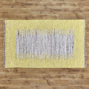 Thoreau Hand-Woven Cotton Ivory/Yellow Area Rug by Safavieh