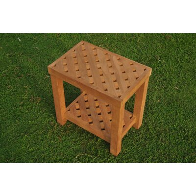 Macaluso Teak Side Table by Highland Dunes 2020 Sale