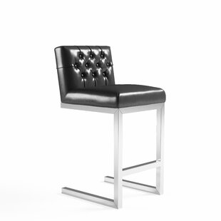 Guild Tobi Leather Counter Bar Stool by O..