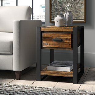 Telfair Wood End Table with Storage
