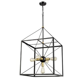 Wrought Studio Luka 5-Light Lantern Chandelier