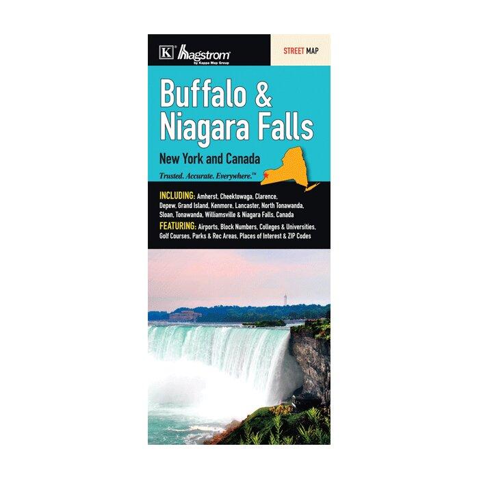 Buffalo Niagara Falls New York Fold Map