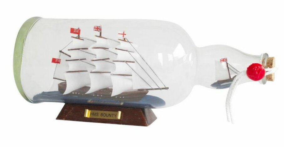 Breakwater Bay Elmhur Bounty Model Ship In A Glass Bottle Wayfair