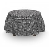 Monochrome Triangle Ottoman Slipcover (Set of 2) by East Urban Home