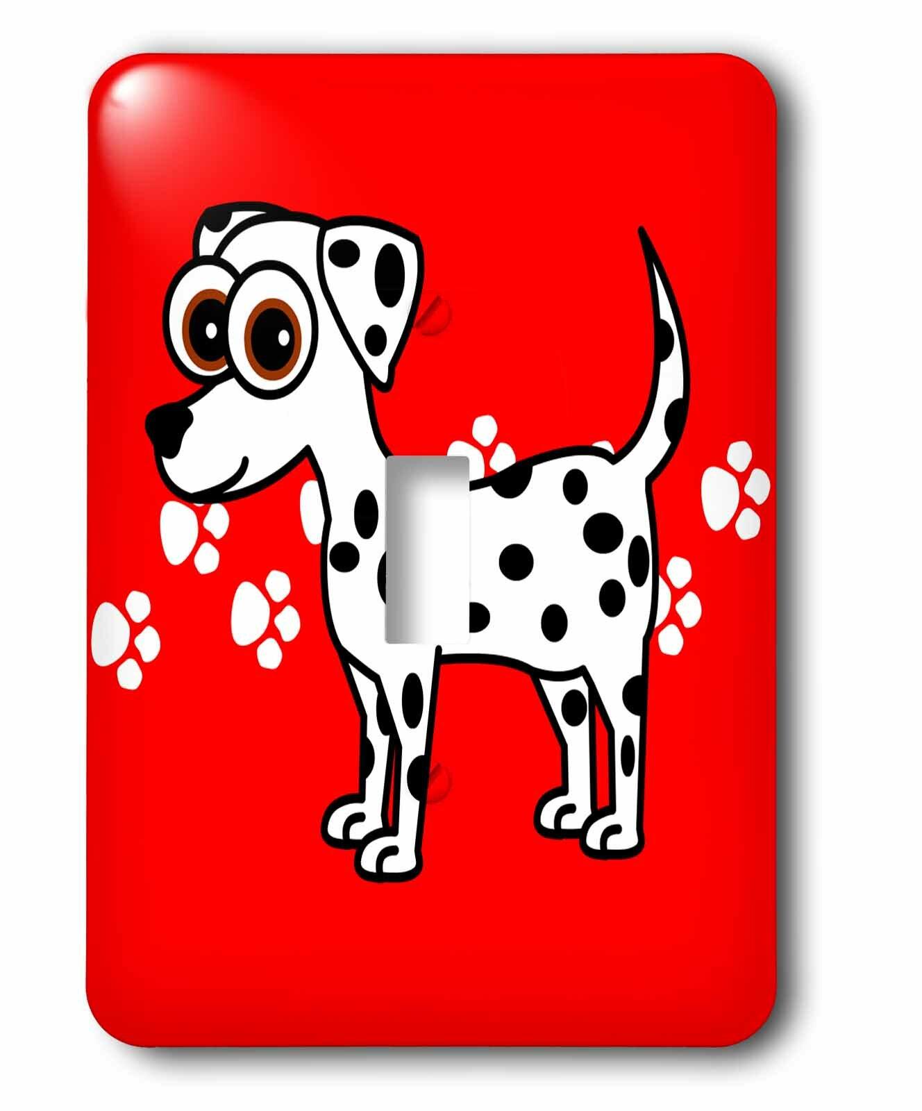 3drose Dalmatian And Paw Prints 1 Gang Toggle Light Switch Wall Plate Wayfair