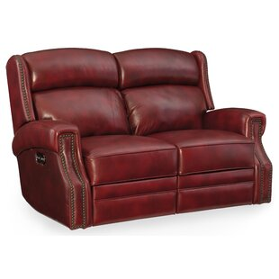 Carlisle Leather Power Motion Loveseat with Power Headrest