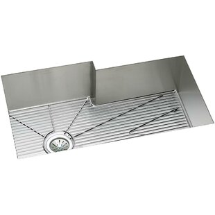Crosstown 35 L x 21 W Undermount Kitchen Sink with Sink Grid and Drain Assembly by Elkay