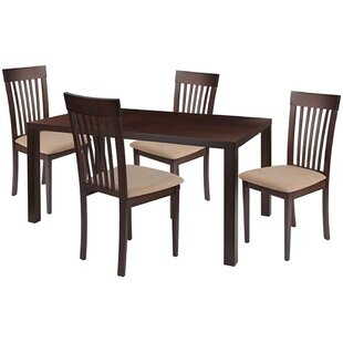 Sklar 5 Piece Solid Wood Dining Set by Winston Porter