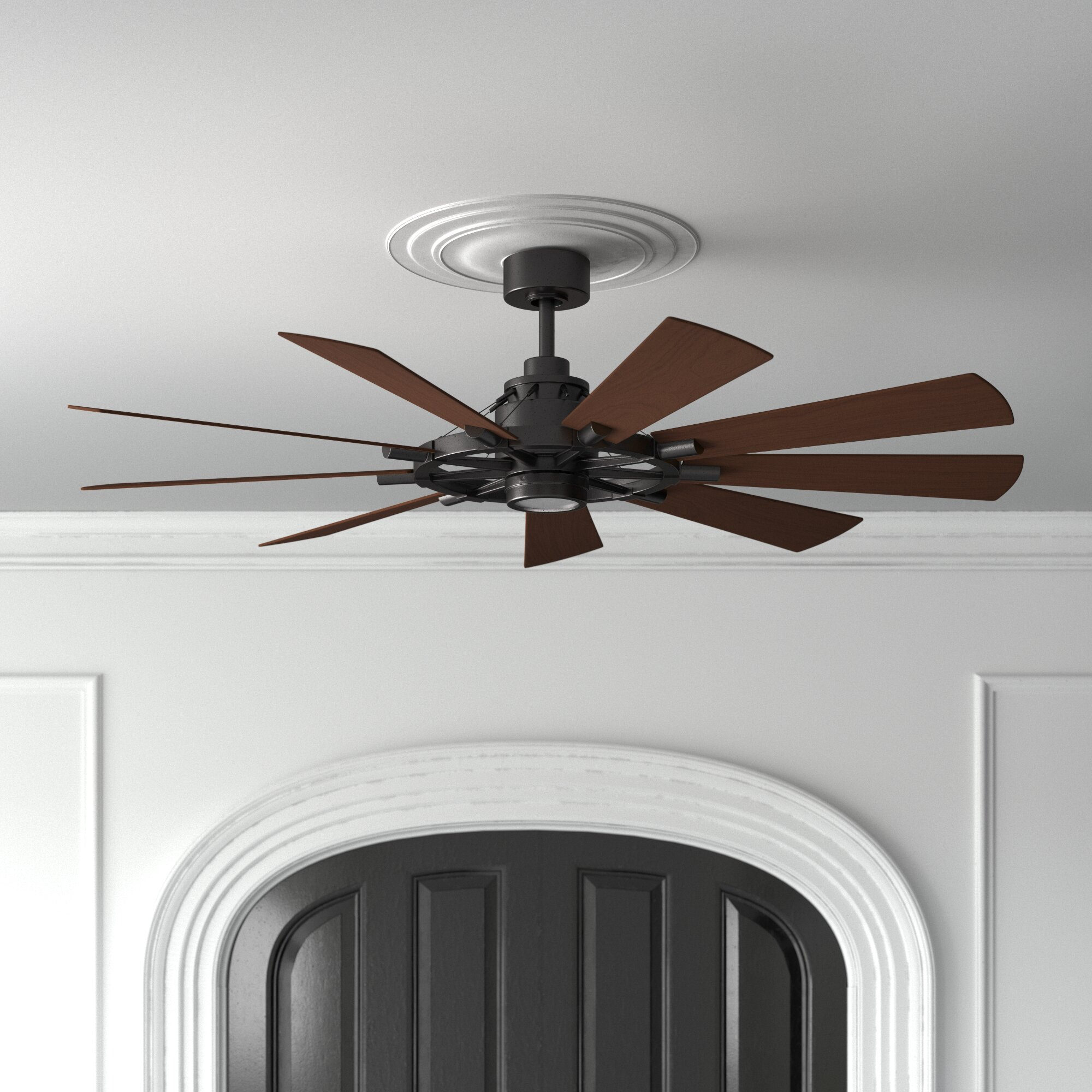 65 Socorro 9 Blade Led Windmill Ceiling Fan With Wall Control And Light Kit Included Reviews Joss Main