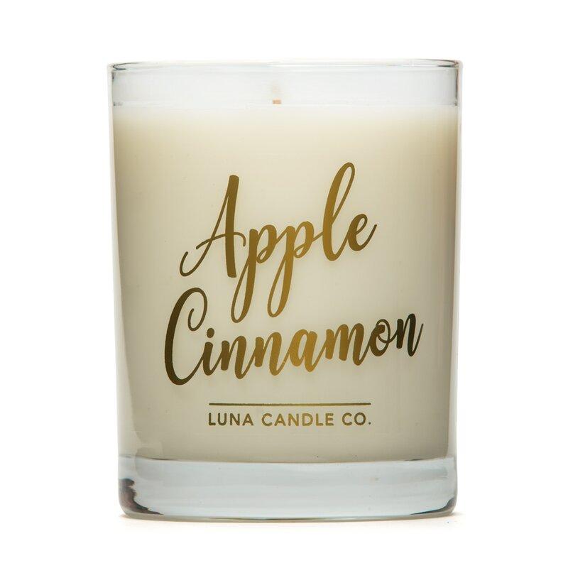 Luna Candle Co Apple Cinnamon Scented Jar Candle Wayfair