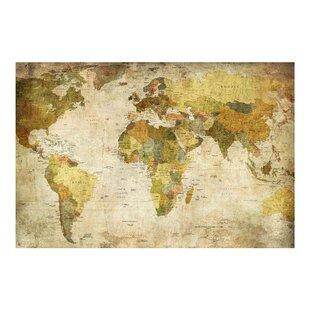 World map wallpaper kids wayfair world map 225m x 336cm wallpaper roll gumiabroncs Image collections