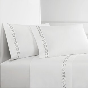 Loops Percale Embroidered Pillowcase (Set of 2)