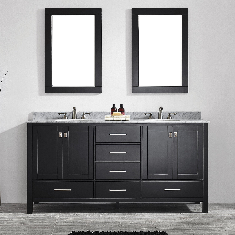 Beachcrest Home Newtown 72 Double Bathroom Vanity Set With Mirror