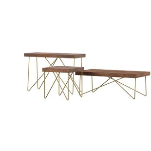 Kunze 3 Piece Coffee Table Set