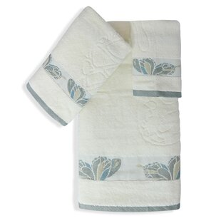 Shell Rummel Butterfly 3 Piece 100% Cotton Towel Set