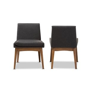 Stallman Mid-Century Modern Upholstered Dining Chair (Set of 2) Brayden Studio
