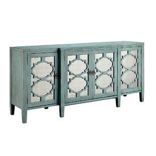 Honalee Breakfront 4 Door Credenza Accent Cabinet by One Allium Way