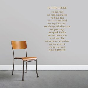 In This House Wall Decal Part 26