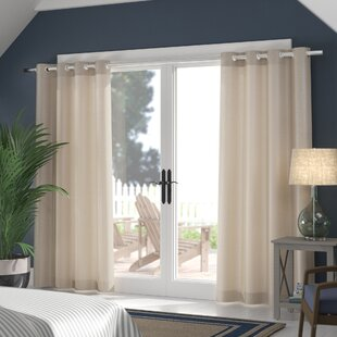 Champine Solid Room Darkening Outdoor Curtain Panels (Set of 2) by Highland Dunes