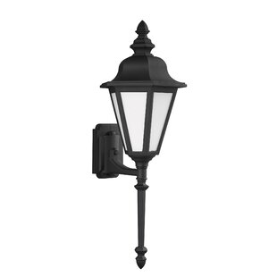 Read Reviews Palmdale Traditional 1-Light Glass Shade Outdoor Wall Lantern By Darby Home Co