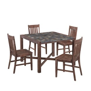 Lakewood 5 Piece Dining Set Millwood Pines