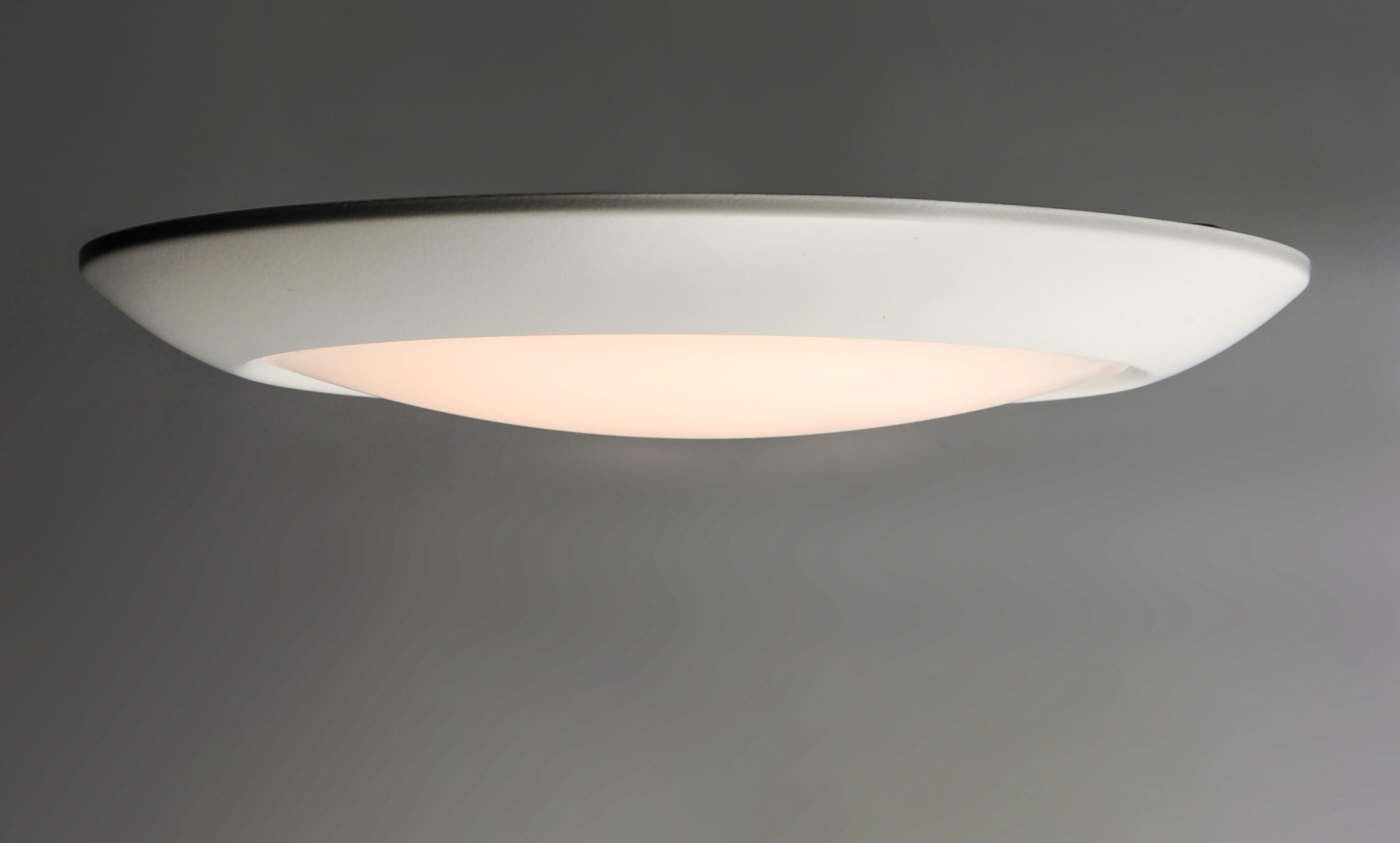 Ebern Designs Lospalmos 1 Light 13 Simple Circle Led Flush Mount Wayfair