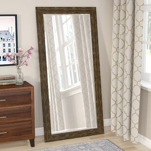 Three Posts Mcmann Beveled Brown Wall Mirror