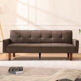 Anuraag Twin 74.8 Tufted Back Convertible Sofa by Latitude Run