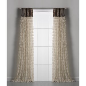Chichi Solid Semi-Sheer Rod Pocket single Curtain Panels
