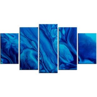 Navy Blue Abstract Art Wayfair Ca