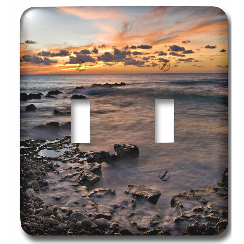 3drose Cayman Islands Waves Near George Town Sunset Beach 2 Gang Toggle Light Switch Wall Plate Wayfair
