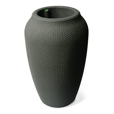 Thurman Wicker Self-Watering Plastic Urn Planter World Menagerie Size: 32 H x 20 W x 20 D, Color: Taupestone