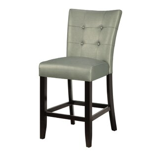 Lytle Wood and Polyurethane Bar Stool (Set of 2) Winston Porter