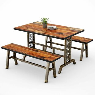 Cherry 3 Piece Dining Set Millwood Pines