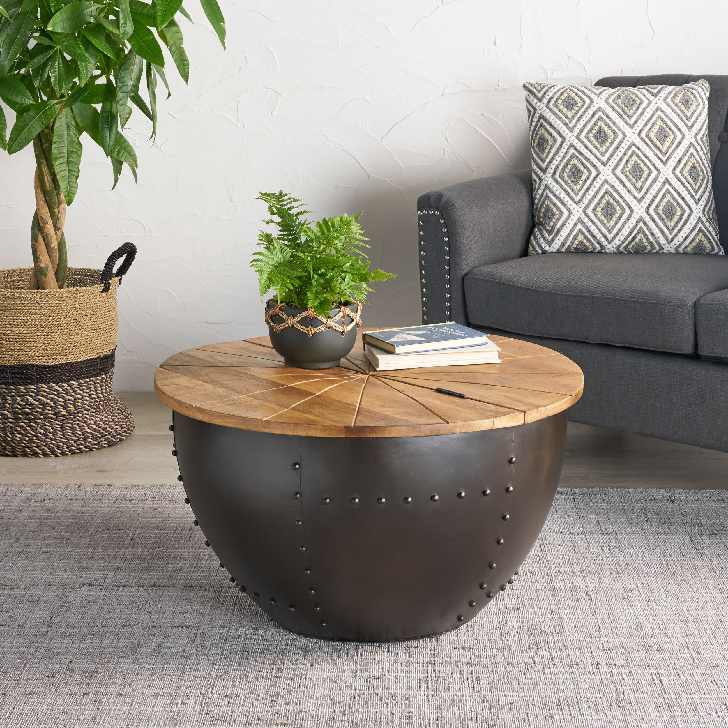 Williston Forge Kayden Solid Coffee Table With Storage Reviews Wayfair