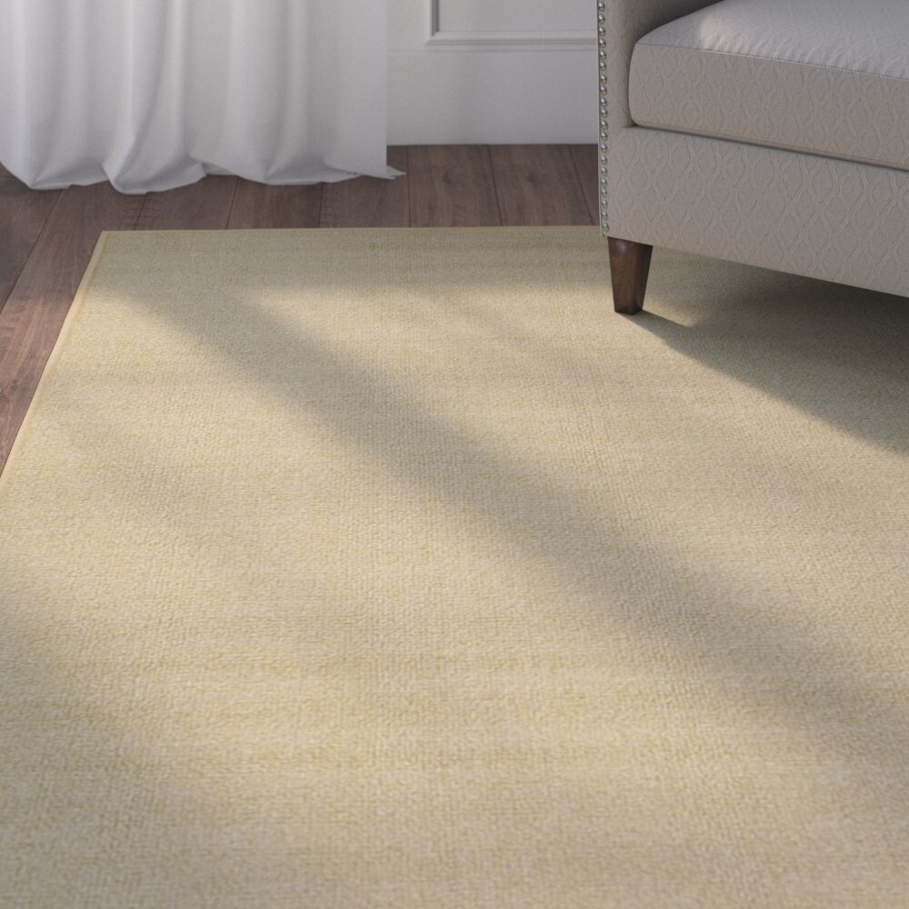 Three Posts Harland Maxy Home Solid Single Plain Ivory Area Rug Reviews Wayfair