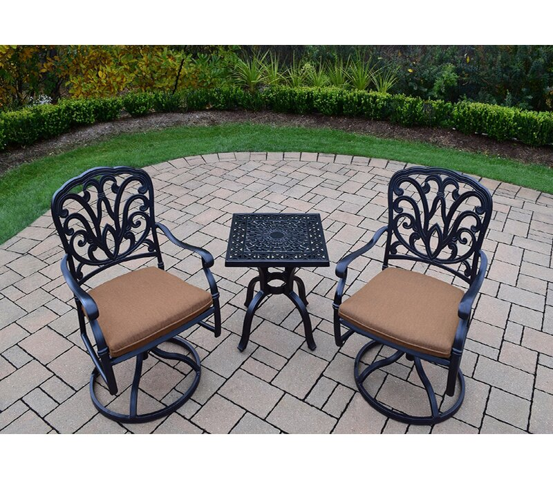 Alcott Hill Waconia 3 Piece Dining Set with Cushions