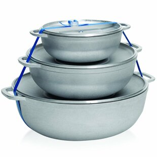 Traditional Caldero Aluminum Oval 3 Piece Dutch Oven Set