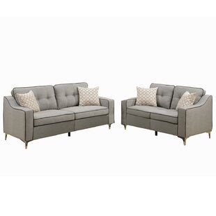 Mercer41 Sebastian 2 Piece Living Room Set