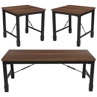 Winston Porter Stackhouse 3 Piece Coffee Table Set