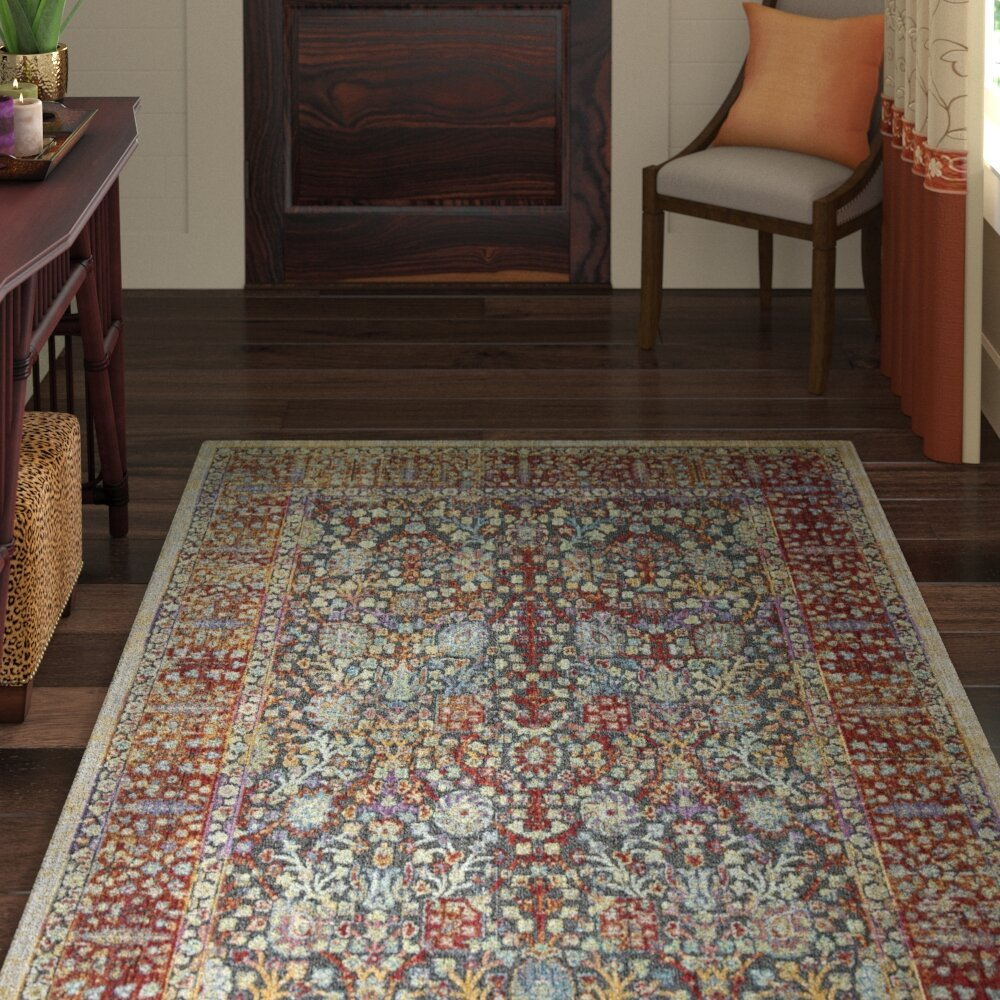 World Menagerie Younes Oriental Red Beige Area Rug Wayfair