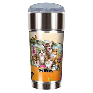 Cat Selfies 24 oz. Stainless Steel Travel Tumbler
