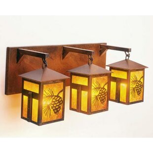 Mission Lake 3-Light Outdoor Wall Lantern By Steel Partners