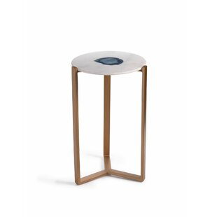 Caspian 20 Inch Tall Marble End Table