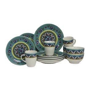 Santa Fe Springs Stoneware 16 Piece Dinnerware Set, Service for 4