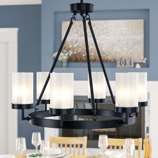 Charlton Home Frakes 6-Light Wagon Wheel Chandelier